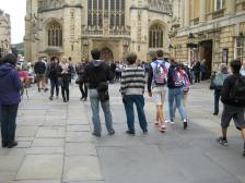 The West Front of Bath Abbey.