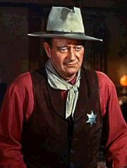 Hollywood's cowboy hero - John Wayne.