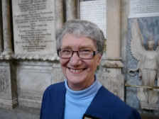 Ms Audrey Woods. A member of the Mayor of Bath's Corps of Honorary Guides.