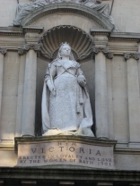The statue of Queen Victoria at the Victoria Art Gallery.