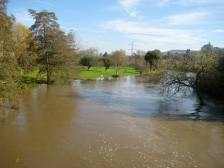 The Avon flooding its water meadows