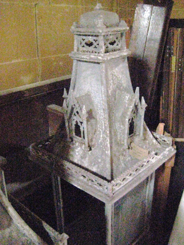 One of two gothic-styled lanterns from Bath Abbey designed by Sir George Gilbert Scott