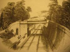 How Brunel pictured people in Sydney Gardens admiring his railway. Copyright Bath Record Office.