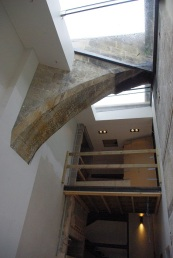 A sneak preview of the amazing 'flying flue' contained in the new atrium entrance to No1a.