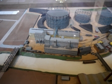 The three-dimensional model showing the Destructor Works and gasworks beyond.