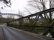 The 'doomed' Destructor Bridge across the River Avon.