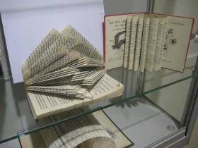 The Central Library in Bath has a display featuring some 'book-art' examples!