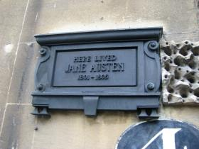 A 'bronze' of Jane Austen.