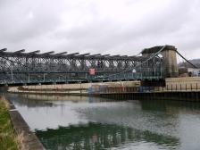 The Victoria Bridge under refurbishment.