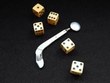 Wyatt Earp's dice and card-feeder!