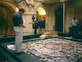 Anthony Beeson restoring Orpheus at Bristol Museum. © Anthony Beeson.