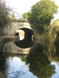 Reflections on the Kennet and Avon Canal at Bath.