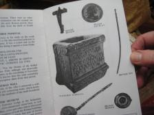 Illustrations of many of the objects found