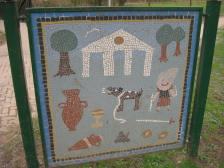 A more recent mosaic from the mosaic trail in the Memorial Park.