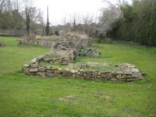 The Abbey ruins in the Memorial Park.