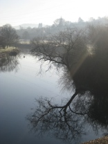 The River Avon at Kensington Meadows looking towards Batheaston