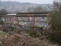 Derelict end of a terrace.