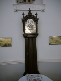 The long case clock by Thomas Tompion.