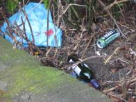 Rubbish thrown over the wall!