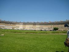 Part of the lawns in from of the Royal Crescent.