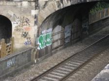 The graffiti grows in Sydney Gardens.