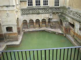 The King's Bath or Sacred Spring - fed by three-quarters of a million litres of natural water a day.
