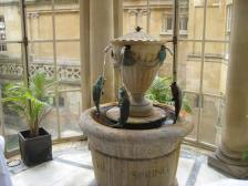The Pump Room fountain supplying  spa water for drinking.