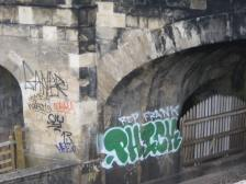 Vandals continue to attack the rail bridges in Sydney Gardens.