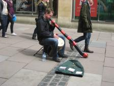 A busker and a didgeridoo!