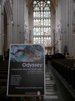 The Odyssey poster in the aisle.