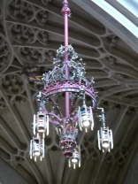 One of the original - though modified - chandeliers commissioned by Gilbert Scot