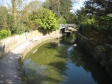 Kennet and Avon Canal running through Sydney Gardens