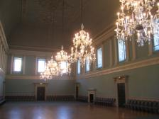 The ballroom at the Assembly Rooms.