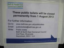 The August closure at Larkhall loos!
