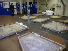 Some of the fabulous mosaics on display.