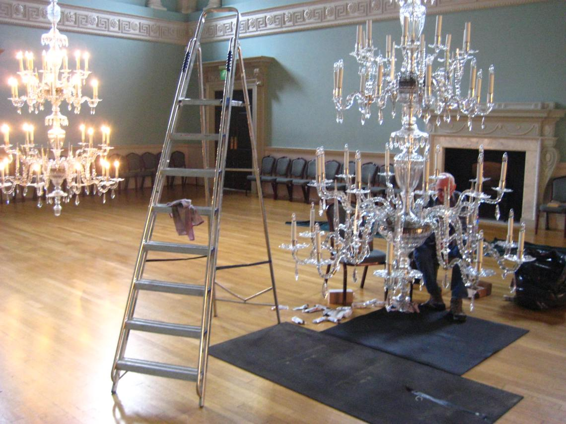 chandeliers assembly rooms