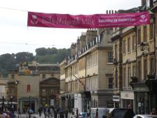 The banner in Milsom Street