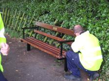 One Sydney Gardens seat coming back into use!