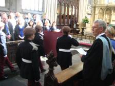 Army cadets from the school bringing the Charter to the High Altar.
