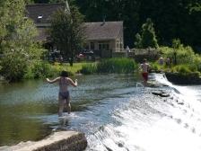The weir at Bathampton Mill
