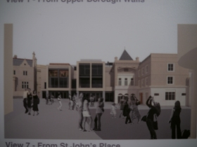 An illustration of the new Bath Casino and other commercial units.