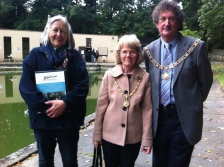 Ann Dunlop with the Mayor and Mayoress of Bath