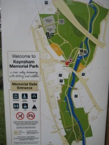 Plan of Keynsham Memorial Park.