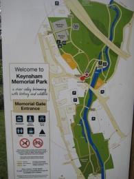 Plan of Keynsham Memorial Park.