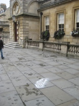 Pavement graffiti outside the Abbey