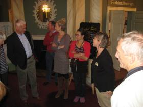 Fashion Museum manager Rosemary Harden talking recently to Mayor's Guides.