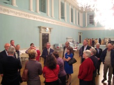 Heritage Services manager Stephen BIrd talking to Mayor's Guides