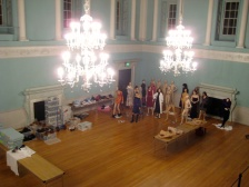 Cataloguing costumes in the ballroom
