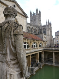 Looking down on the Great Bath.