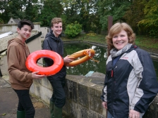 Dec and Fin with Sally Helvey from the Cleveland Pools Trust